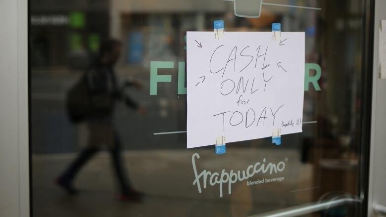 Cash Only, our Internet is Down :-(
